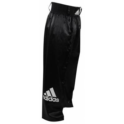 Pantaloni lungi kickbox, negru, 140cm