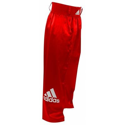 Pantaloni lungi kickbox, rosu, 140cm