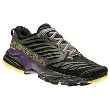 Pantofi alergare trail Akasha, negru-mov, La Sportiva