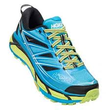 Pantofi alergare trail, cyan-acid, Mafate Speed 2, Hoka One One