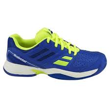 Pantofi tenis pentru juniori, albastru-verde, Pulsion All Court, Babolat