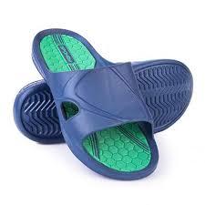 Papuci pentru piscina, barbati, albastru-verde, Orbit