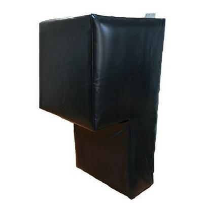 Perna antrenament box, prindere pe perete, 80x40x40x18cm, polyplan, negru