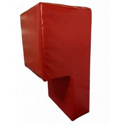 Perna antrenament box, prindere pe perete, 80x40x40x18cm, polyplan, rosu