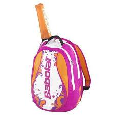 Rucsac tenis fete cu suport pentru racheta, roz-portocaliu, Babolat