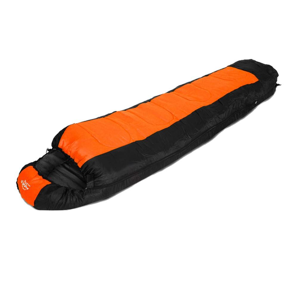Sac de dormit portocaliu-negru, G1600