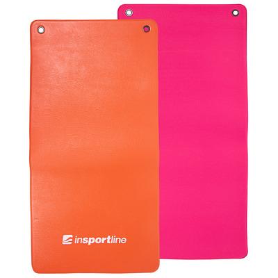 Saltea pentru exercitii fitness Aero 120x60cm, portocaliu-roz