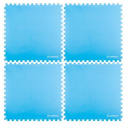 Saltea puzzle pentru podea, 200x200cm, albastru