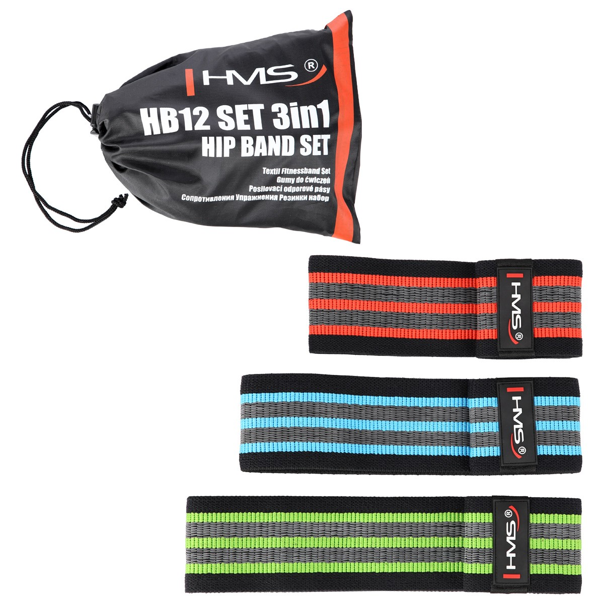 Set 3 benzi elastice fitness HB12