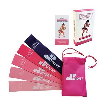 Set 5 mini benzi elastice fitness, 5 intensitati
