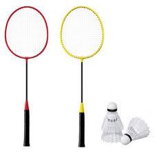 Set badminton doua persoane, 2 rachete, 2 fluturasi Hobby, Solex