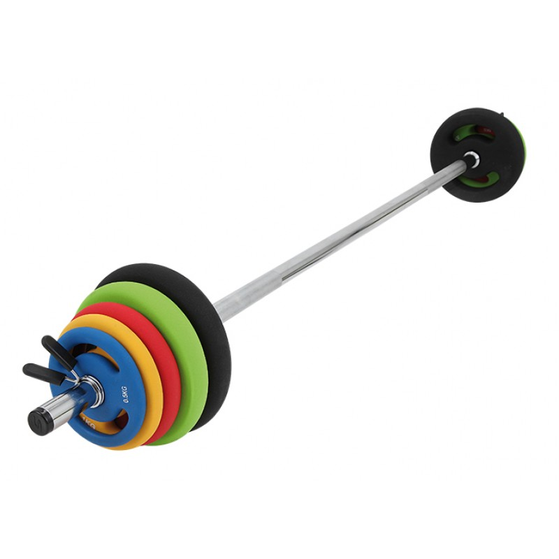 Set fitness pump, bara si discuri 16kg, Sveltus