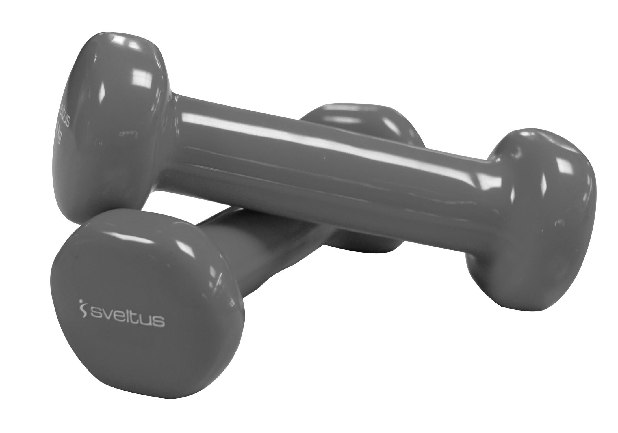 Set gantere aerobic 2x3 kg, Epoxy, Sveltus