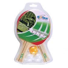 Set tenis de masa pentru doua persoane, 2 palete, 3 mingi, Solex
