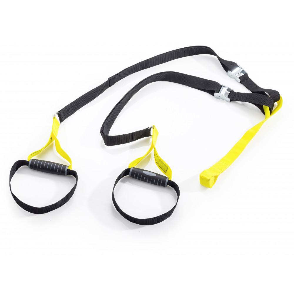Sistem complet cu corzi pentru antrenament personal, Sling trainer, galben, Kettler
