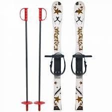 Skiuri din plastic pentru copii 5+ ani, 90cm, alb