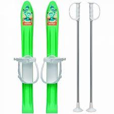 Skiuri din plastic pentru copii 5+ ani, 90cm, verde