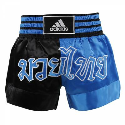 Sort box Muay Thay, negru-albastru, marime XS