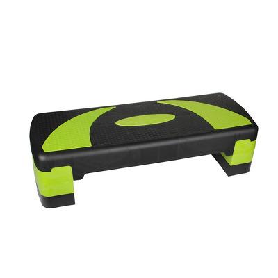 Stepper aerobic reglabil, 3 nivele, verde-negru