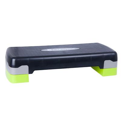 Stepper aerobic reglabil pe 2 nivele, verde-negru