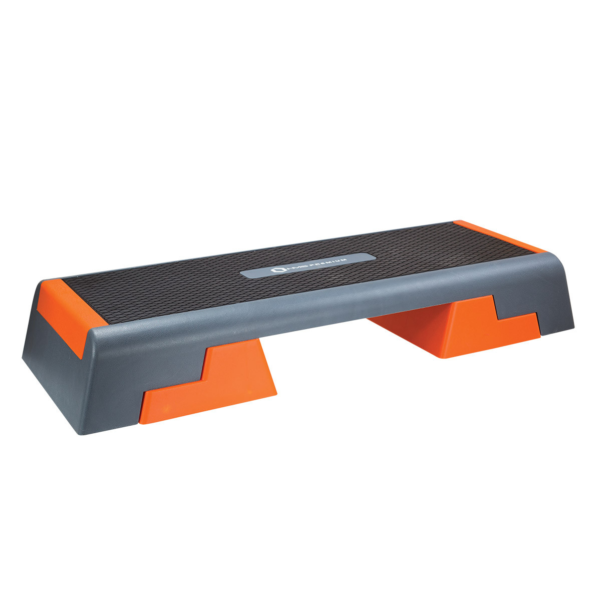 Stepper aerobic si fitness, reglabil pe 3 nivele, negru-portocaliu