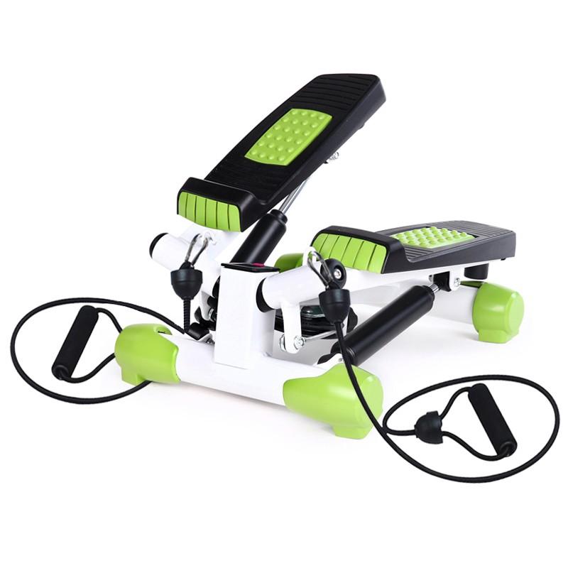 Stepper aerobic Twist cu corzi elastice, S3033, verde