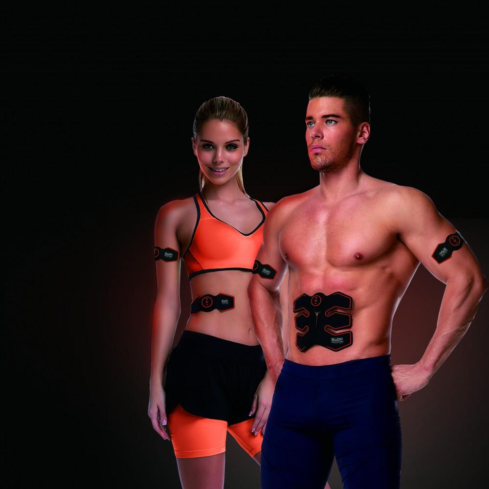 Stimulator electronic pentru antrenamentul muschilor abdominali Six Pack