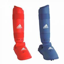 Tibiere cu botosei antrenament karate, albastru, marime S, Adidas