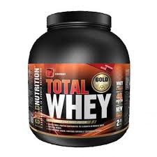 Total Whey protein Gold Nutrition, aroma capsuni, 2kg