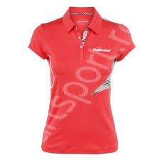 Tricou polo dama Babolat Perf  - rosu coral